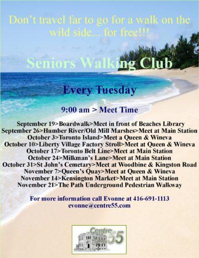 Tuesdays — Seniors Walking Club