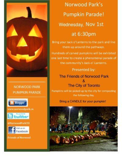 Nov 1 – Pumpkin Parade!!